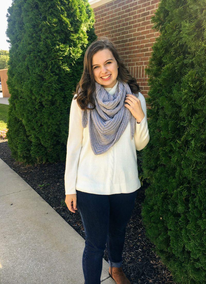 Crochet Triangle Shawl Pattern – Lakewood Wrap