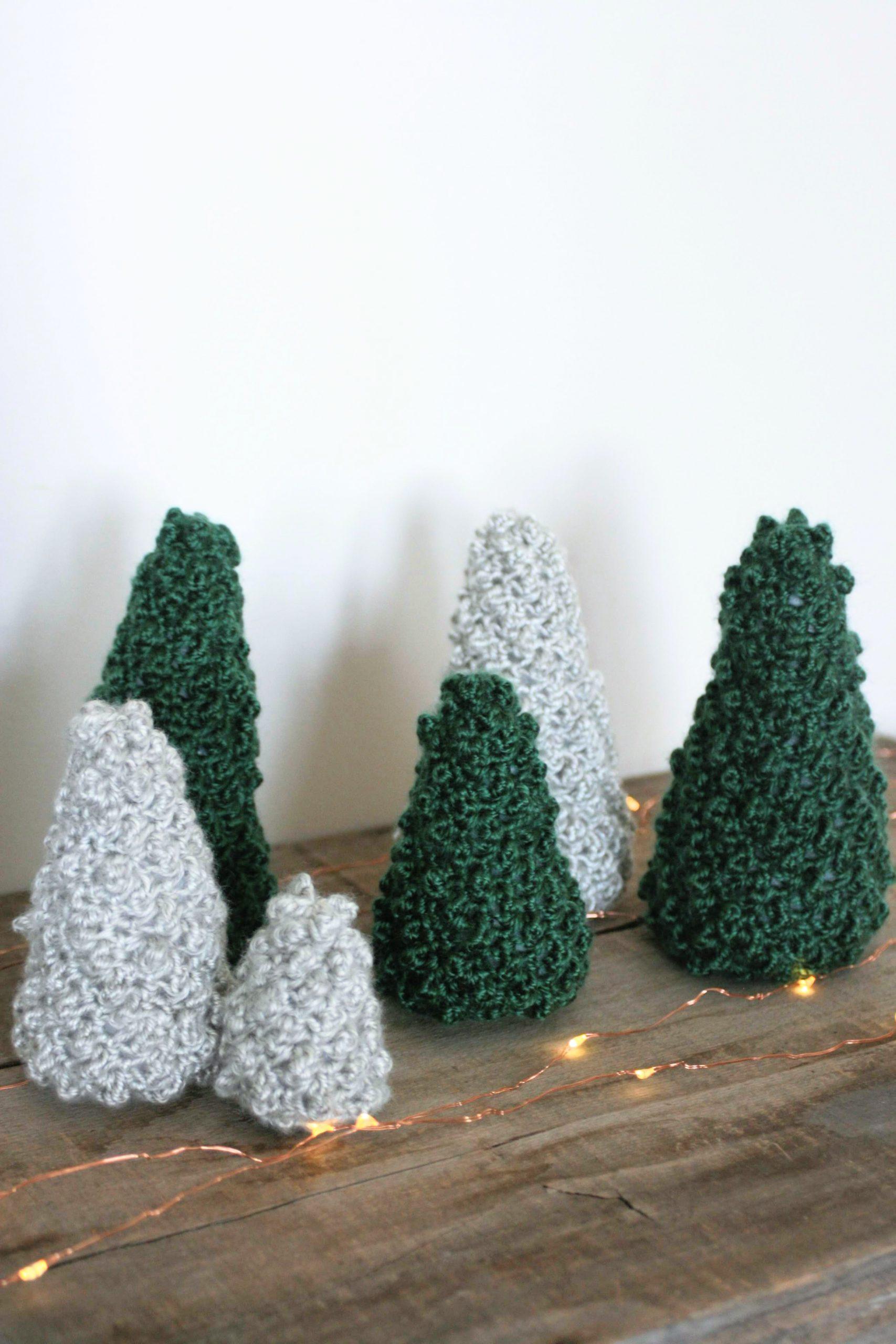 Crochet Tree Pattern – Evergreen Forest Trees