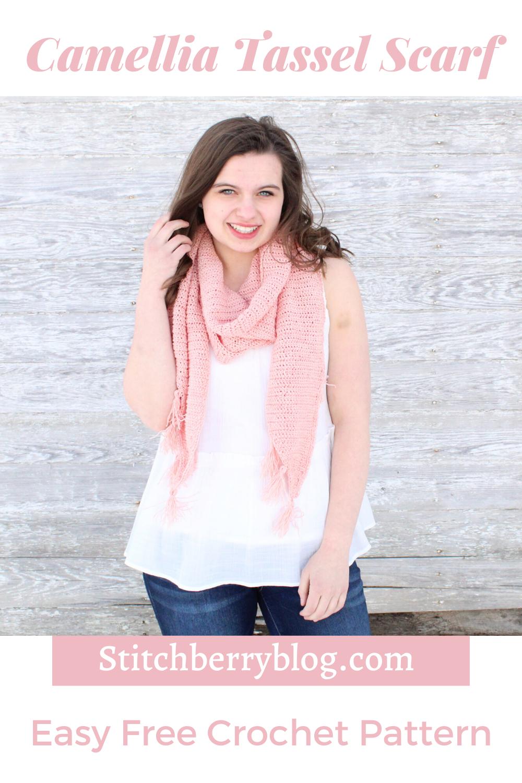 Lightweight Crochet Tassel Scarf Free Pattern