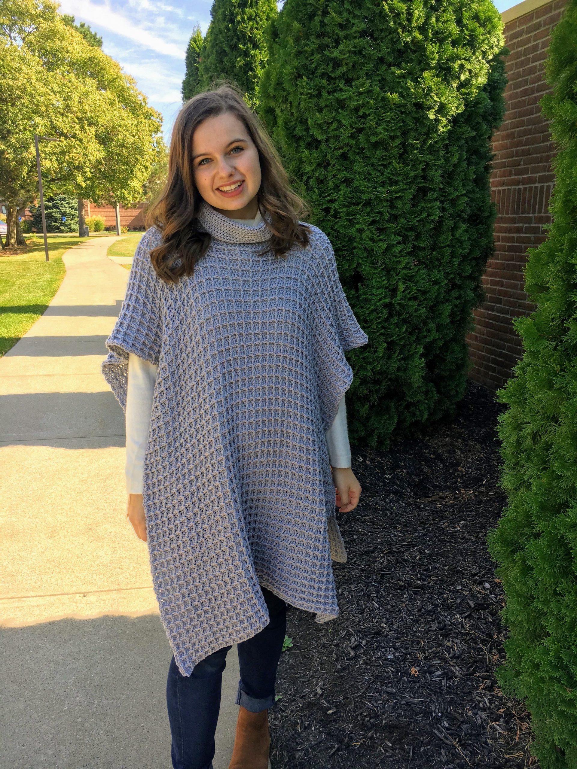 5th Avenue Poncho – Free Crochet Pattern