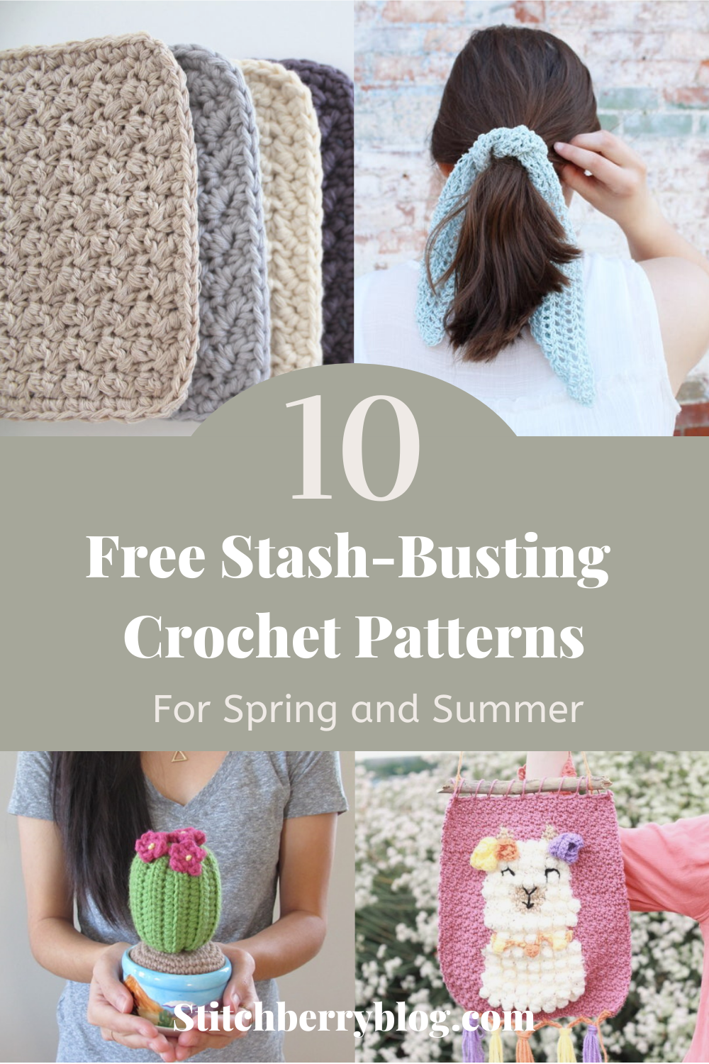 10 Free Stash-busting Crochet Projects for Spring and Summer