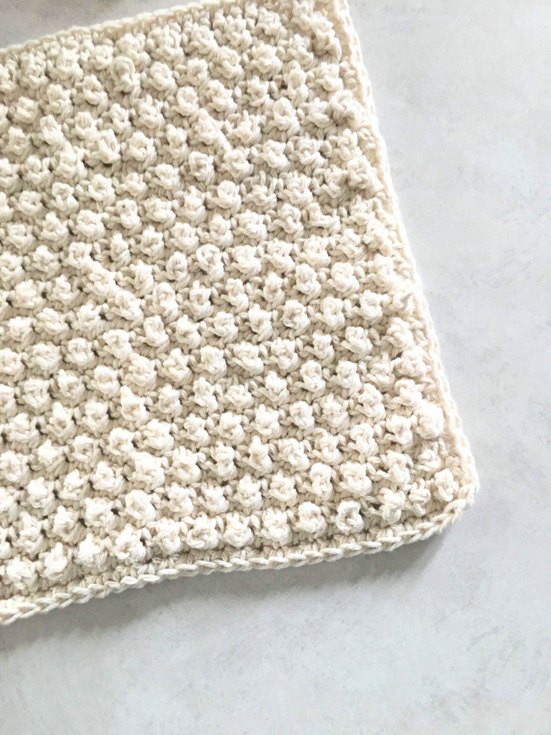Crochet Cobblestone Stitch Washcloth – Free Pattern