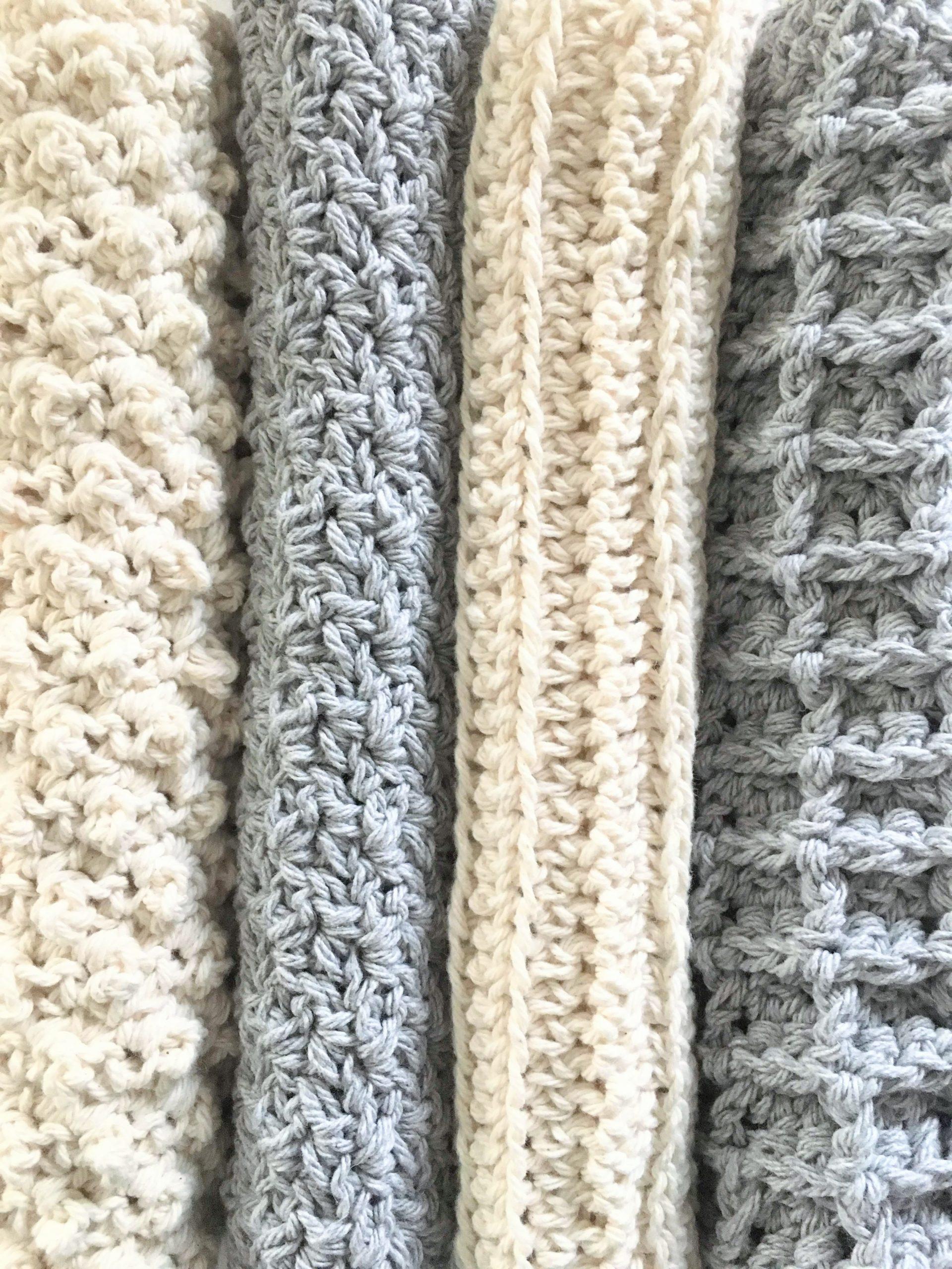 Sampler Stitch Washcloth Collection – Free Patterns