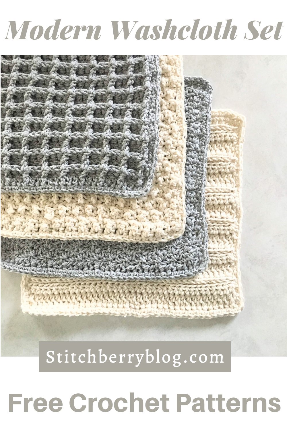 Sampler Stitch Washcloth Collection