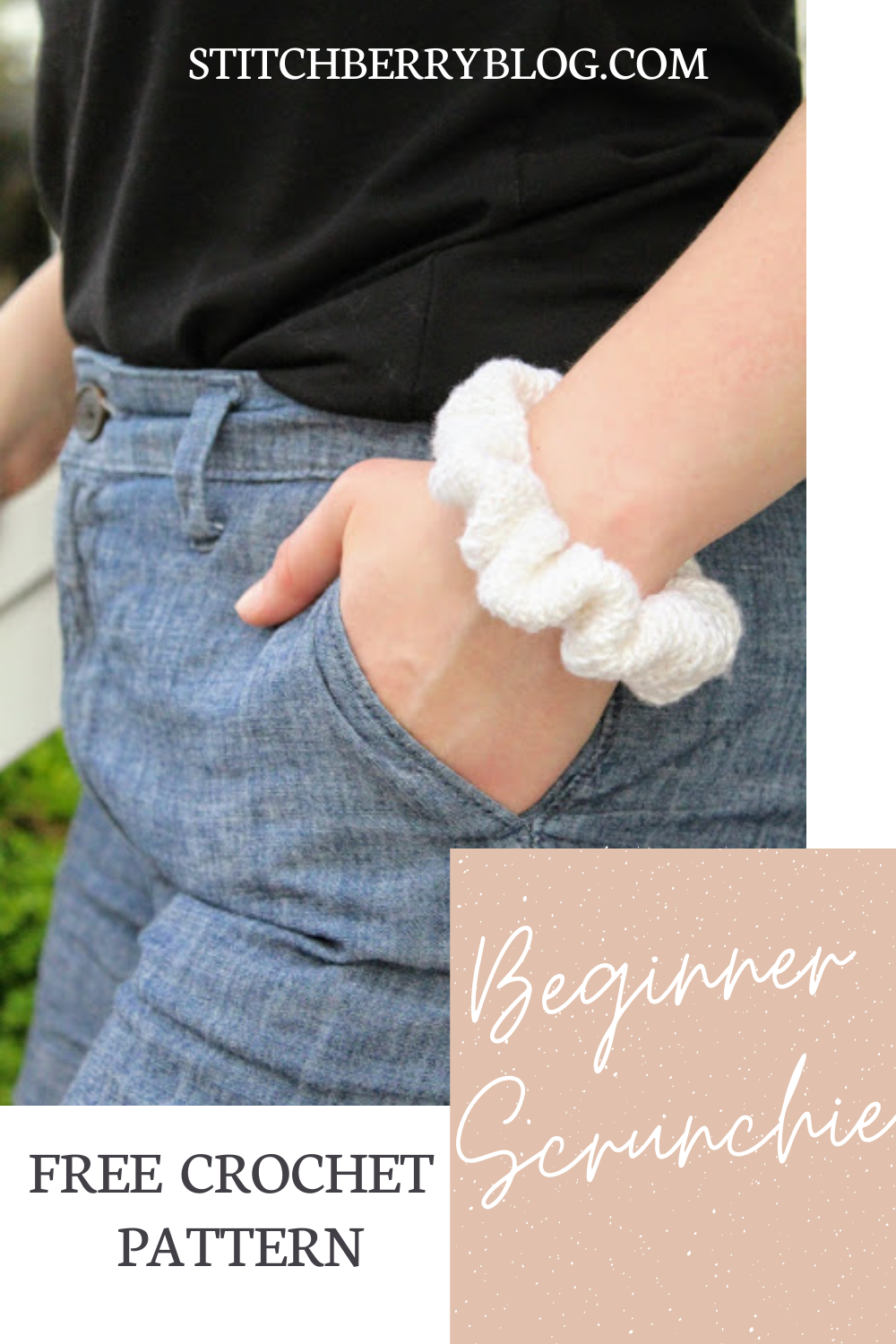 Beginner Scrunchie – Free Crochet Pattern