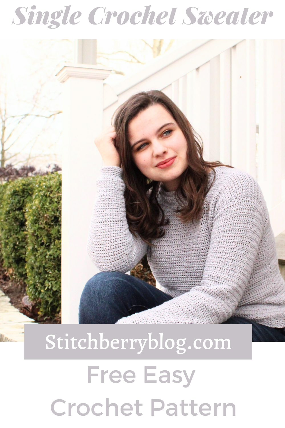 Easy Single Crochet Sweater – Free Crochet Pattern