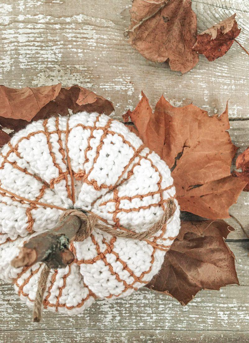 Plaid Pumpkin Crochet Pattern   Darlin' Plaid Pumpkins