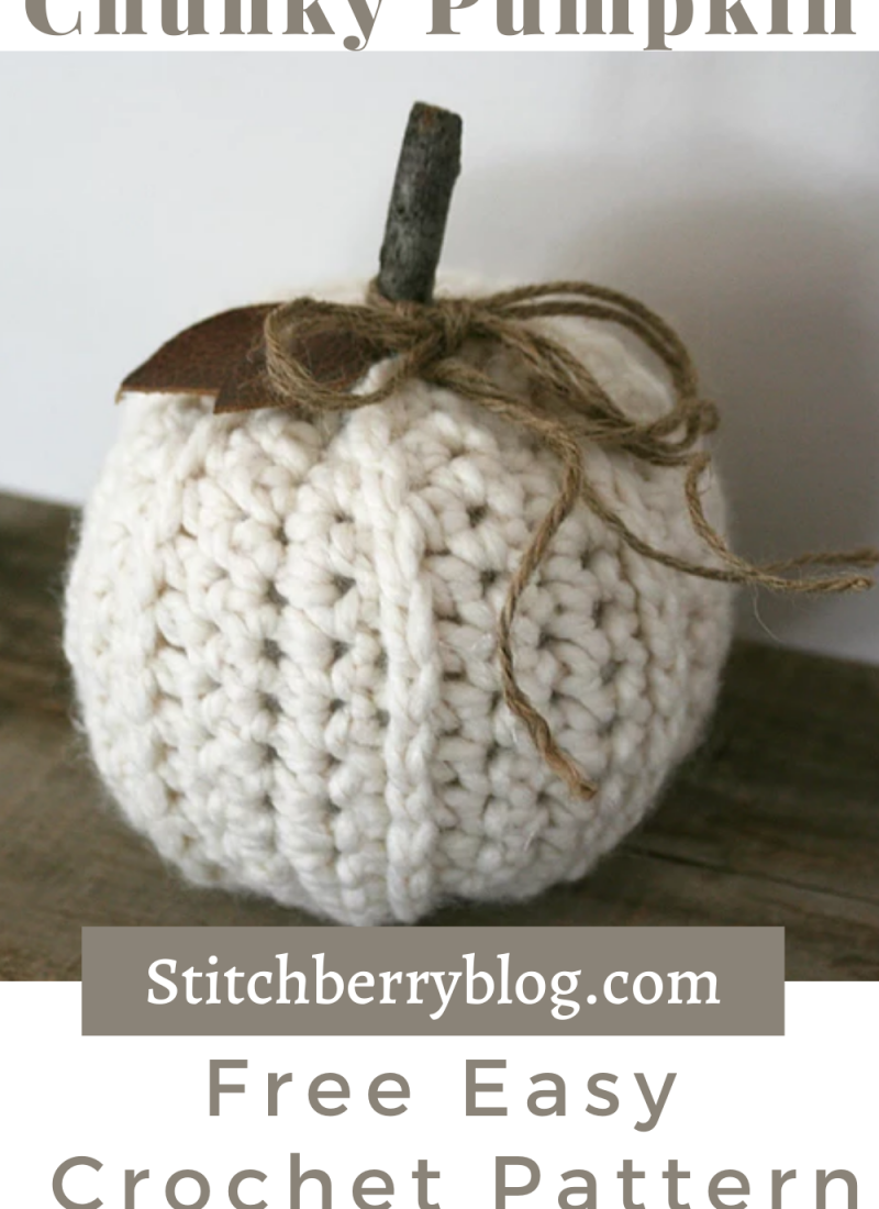 Chunky Ribbed Pumpkin – Free Crochet Pattern