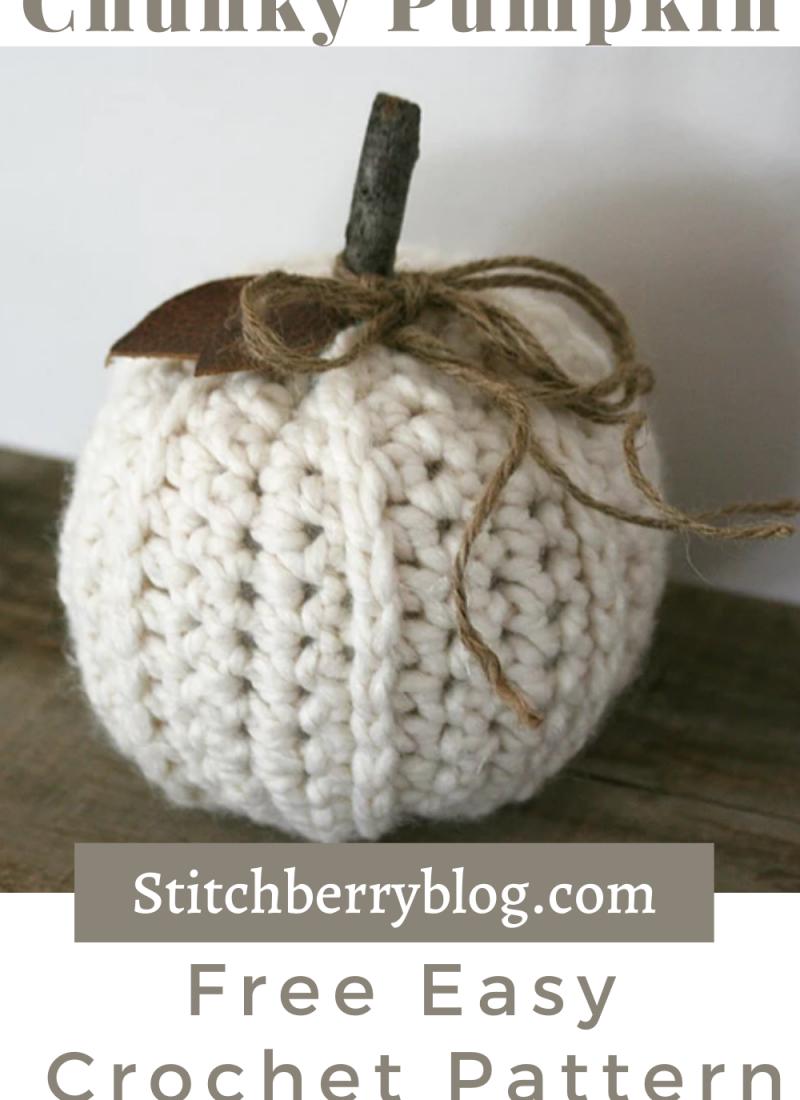 Chunky Ribbed Pumpkin Free Crochet Pattern