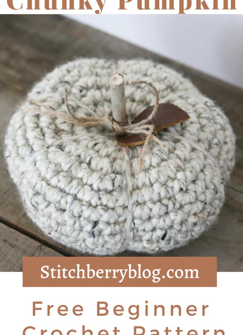 Chunky Crochet Pumpkin Pattern – Easy Free Crochet Pattern