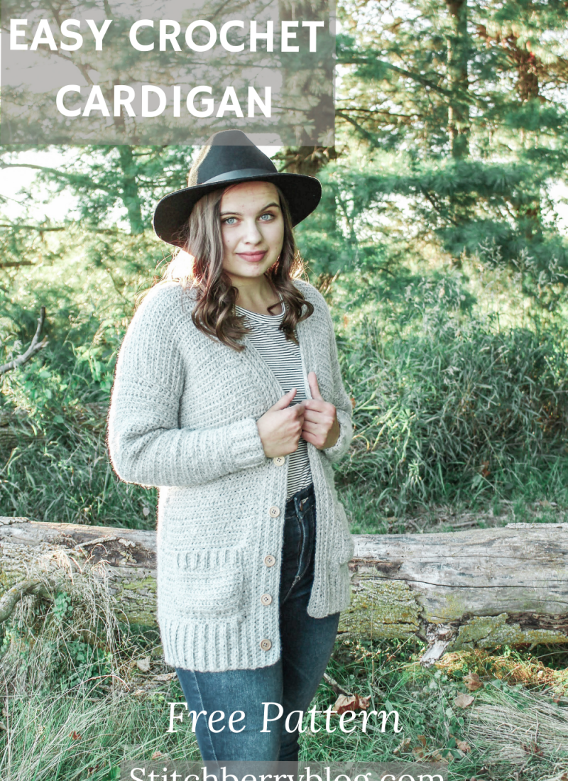 The Haven Button Cardigan – Easy Free Crochet Pattern