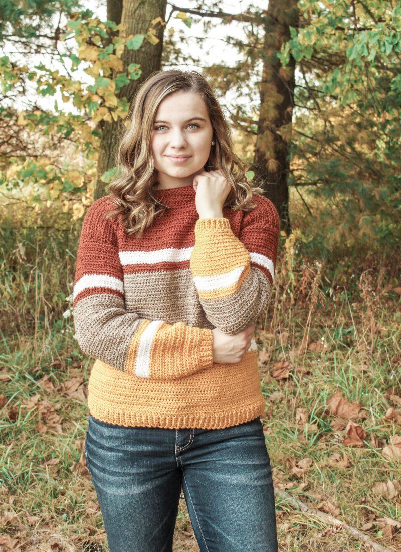 Striped Sweater Crochet Pattern – Free Pattern!