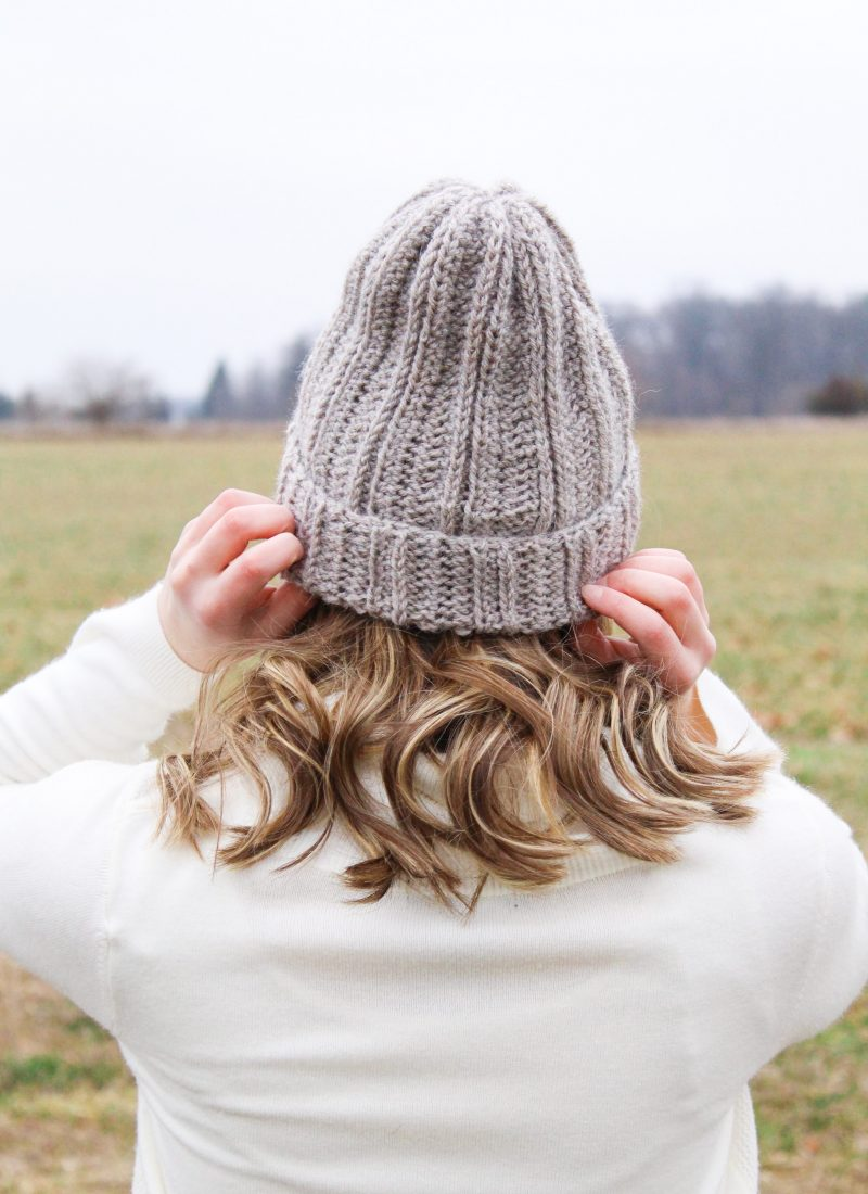 Bulky Crochet Ribbed Beanie – Free Pattern