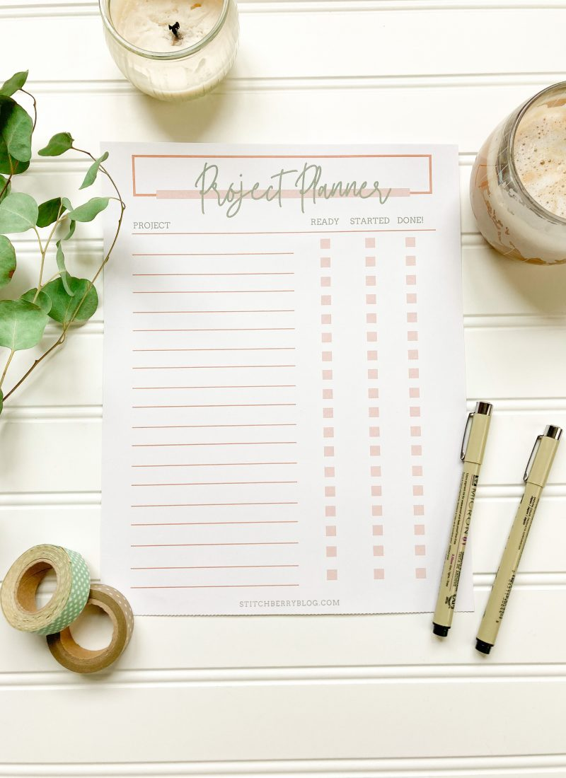 How to Plan Projects + Free Printable!!
