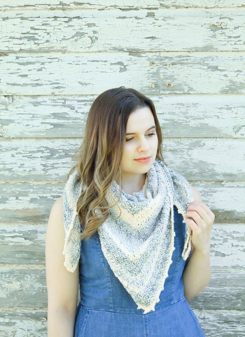 Crochet Textured Shawl Pattern | Tidal Mist Shawl