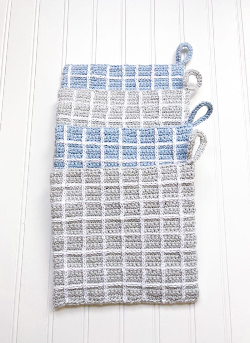 Plaid Potholders Crochet Pattern | Darlin' Plaid Potholders