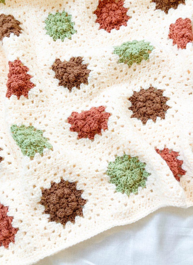Crochet Granny Square Blanket Free Pattern | Homestead Blanket