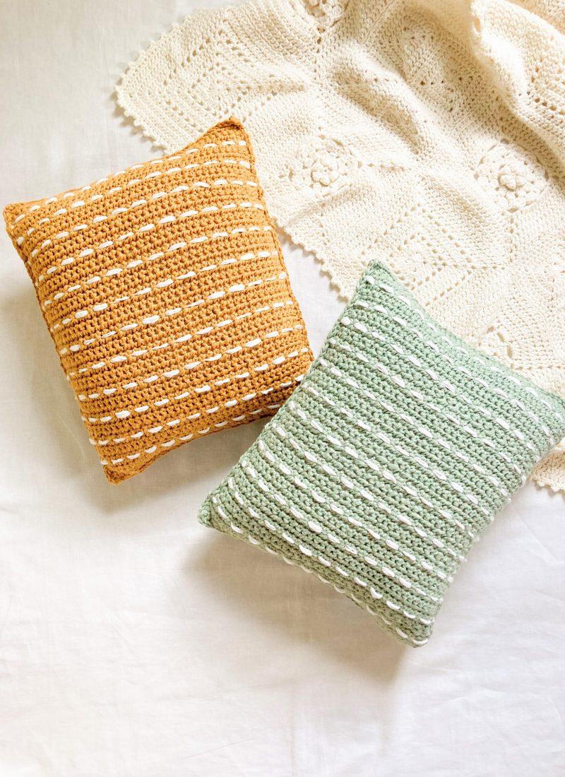 Striped Boho Pillow Crochet Pattern