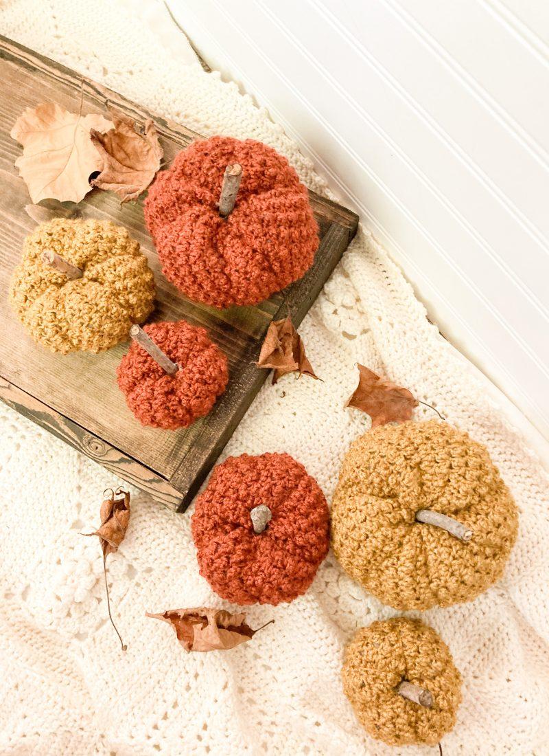 Textured Crochet Pumpkin Pattern   The Cobblestone Pumpkins