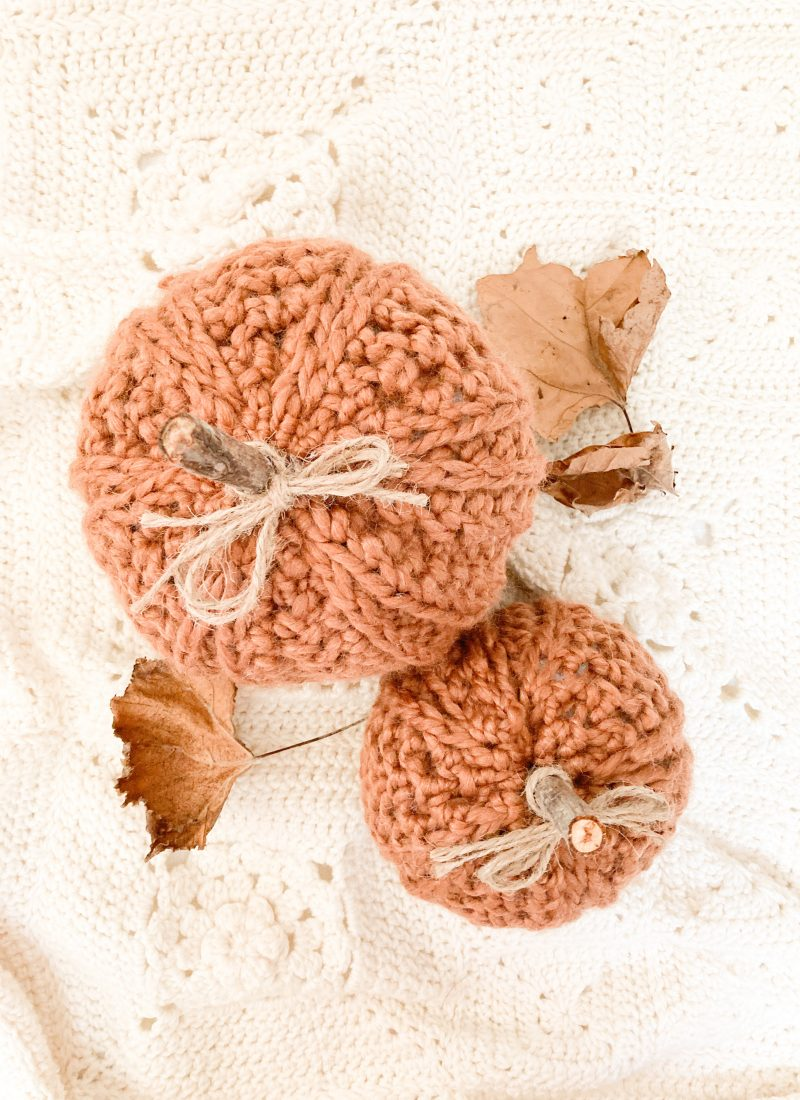 Chunky Ribbed Pumpkin Pattern | Spiced Ribbed Pattern